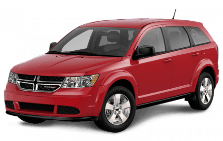 A red Dodge Journey
