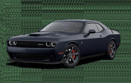 A black Dodge Challenger