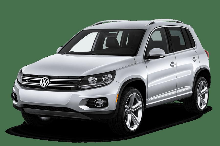 A silver Volkswagen Tiguan